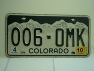 2010 COLORADO License Plate 006 OMK