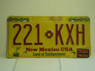 1999 NEW MEXICO Land of Enchantment License Plate 221 KXH