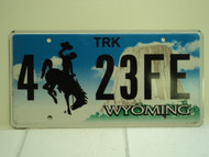 WYOMING Bucking Bronco Devils Tower Truck License Plate 4 23FE