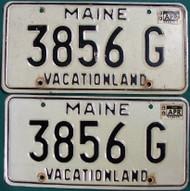 PAIR 1988 Maine 3856G Vacationland License Plate