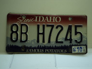 2008 IDAHO Famous Potatoes License Plate 8B H7245