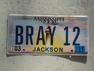 2011 MISSISSIPI Vanity License Plate BRAY12
