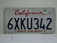 CALIFORNIA Lipstick License Plate 6XKU342