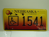 NEBRASKA Handicapped License Plate 1541