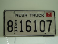 2005 NEBRASKA Commercial Truck License Plate 8 16107