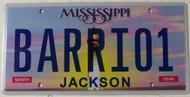Mississippi Vanity BARRI01 License Plate
