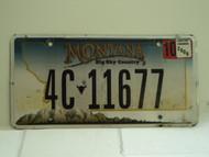 2008 MONTANA Big Sky License Plate 4C 11677