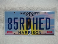 Mississippi Harrison Vanity 85RDHED License Plate