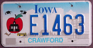 Iowa Educator Apple License Plate