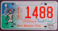 New Mexico Childrens Trust Fund 2006 License Plate