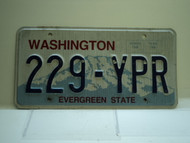 Washington Evergreen State License Plate 229 YPR