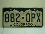 COLORADO License Plate 882 OPX