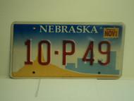 2002 NEBRASKA License Plate 10 P49