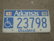 1999 ARKANSAS Disabled License Plate 23798