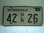 2004 NEBRASKA Dealer License Plate 42 DLR 26