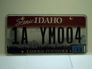 2010 IDAHO Scenic Famous Potatoes License Plate 1A YM004