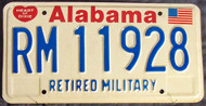 Alabama RM11928 License Plate