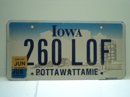 2007 IOWA License Plate 260 LOF
