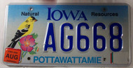 2006 Aug Iowa Natural Resources License Plate