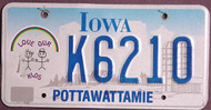 Iowa Love Our Kids License Plate
