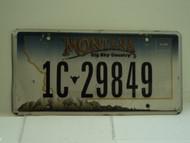 MONTANA Big Sky License Plate 1C 29849