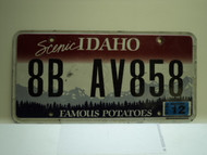 2010 IDAHO Scenic Famous Potatoes License Plate 8B AV858