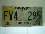 2001 MISSISSIPPI Magnolia License Plate FV4 295
