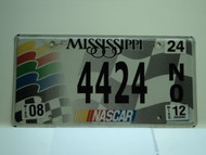 2012 MISSISSIPPI NASCAR License Plate 4424 NO 442