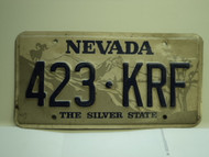 NEVADA Silver State License Plate 423 KRF