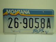 MONTANA Big Sky License Plate 26 9058A