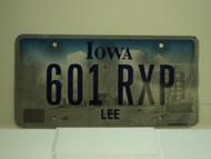 IOWA License Plate 601 RXP
