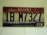 2011 IDAHO Famous Potatoes License Plate 1B M7327