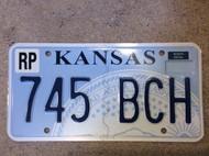 Republic Co Kansas 745 BCH License Plate