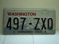 Washington Evergreen State License Plate 497 ZXQ