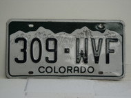 COLORADO License Plate 309 WVF