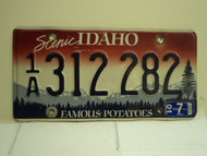 2001 IDAHO Famous Potatoes License Plate 1A 312 282