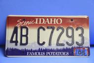 2005 IDAHO Scenic Famous Potatoes License Plate 4B C7293 1