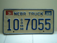 1996 NEBRASKA Commercial Truck License Plate 79 Comm 105 1