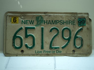 1999 NEW HAMPSHIRE Live Free or Die License Plate 651296