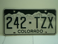 COLORADO License Plate 242 TZX