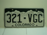 COLORADO License Plate 321 VGC