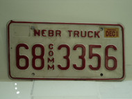 2002 NEBRASKA Commercial Truck License Plate 68 3356