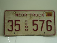 2002 NEBRASKA Commercial Truck License Plate 35 576