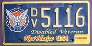 New Mexico Disabled Veteran Vietnam Permanent