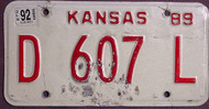 Kansas Dealer 1992 License Plate