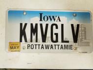 2016 Iowa Pottawattamie County License Plate KMVGLV