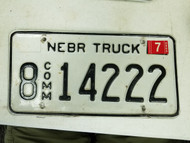 2005 Nebraska Hall County Commercial License Plate 8 14222
