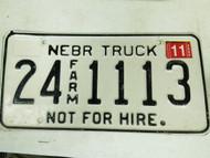 2005 Nebraska Cuming County Commercial License Plate 24 1113