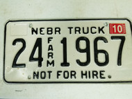 2005 Nebraska Cuming County Commercial License Plate 24 1967