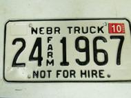 2005 Nebraska Cuming County Commercial License Plate 24 1967